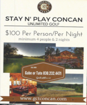 Stay and Play Concan Golf